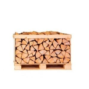 Kiln dried birch logs half crate