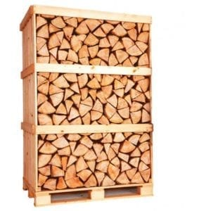 Kiln dried birch logs full crate