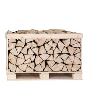 Kiln dried ash logs half crate